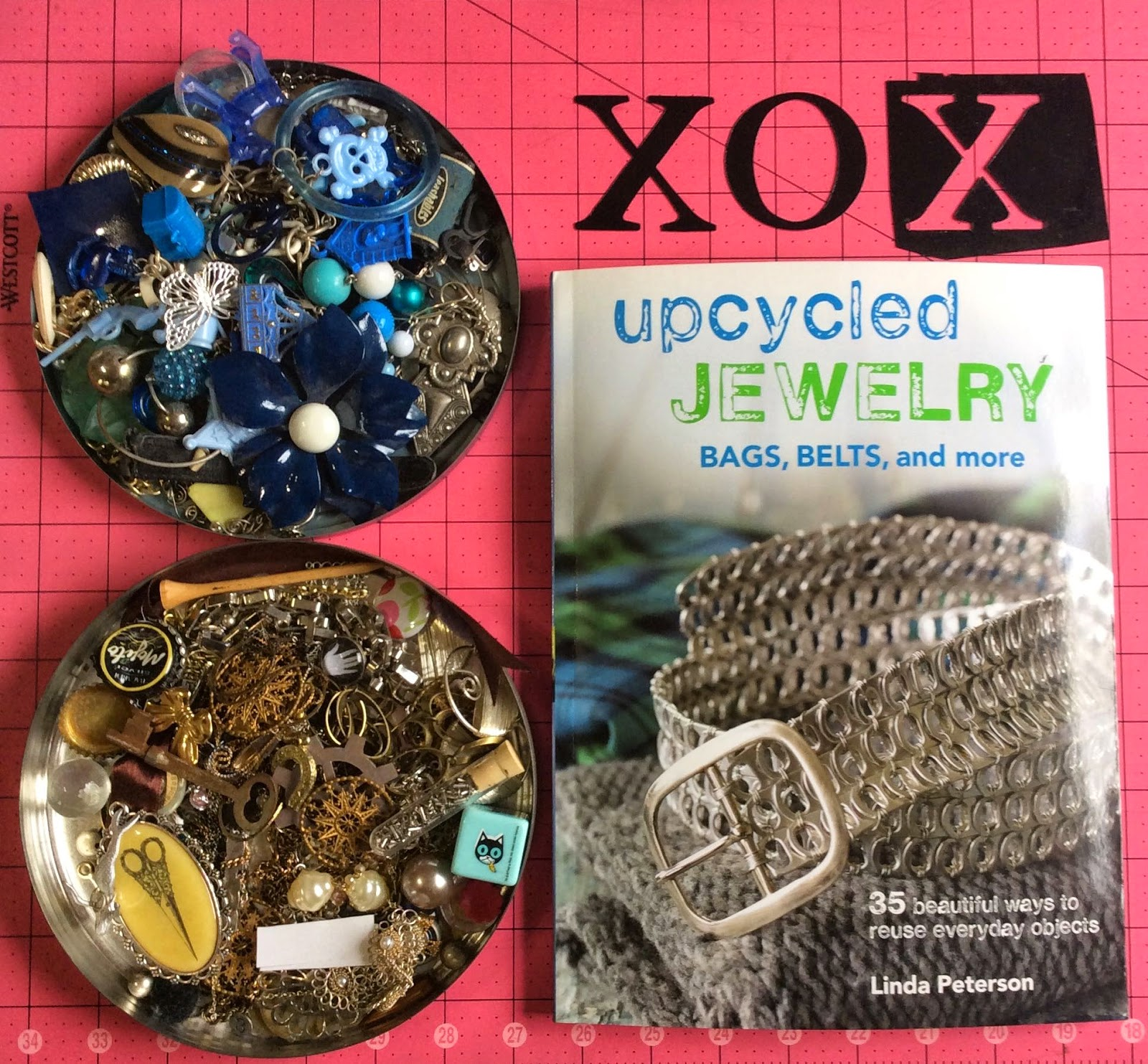 recycled jewelrey, recycled plastic letters, how to. stefanie girard, valentine jewelry, xo