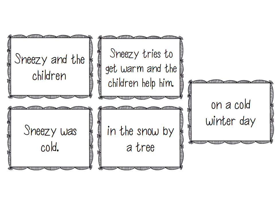 Sneezy the Snowman: book study