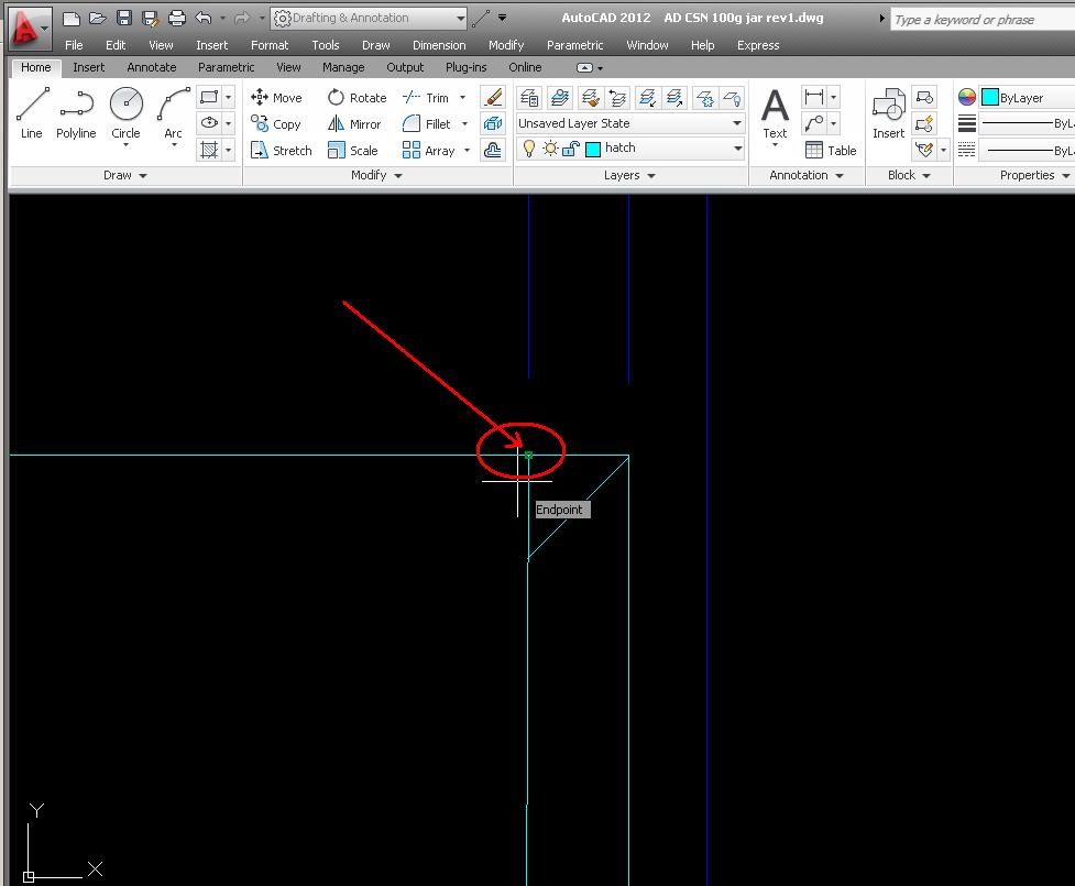 Autocad design simple tutorial setting autosnap autosnap greatly assist us in doing the work with object snaps allow objects to be added to the image on the right position in relation to other objects baditri Images