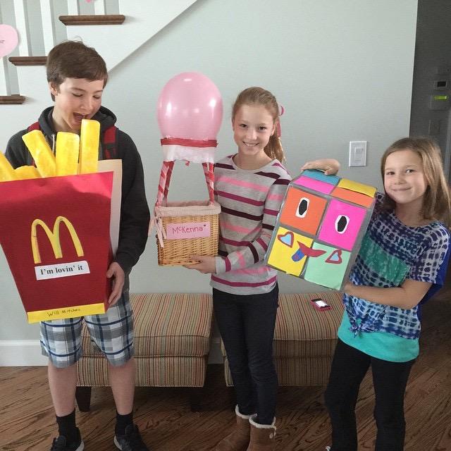 Creative Valentineu0027s Box #16  #18 French Fries, Hot Air Balloon And Rubix  Cube