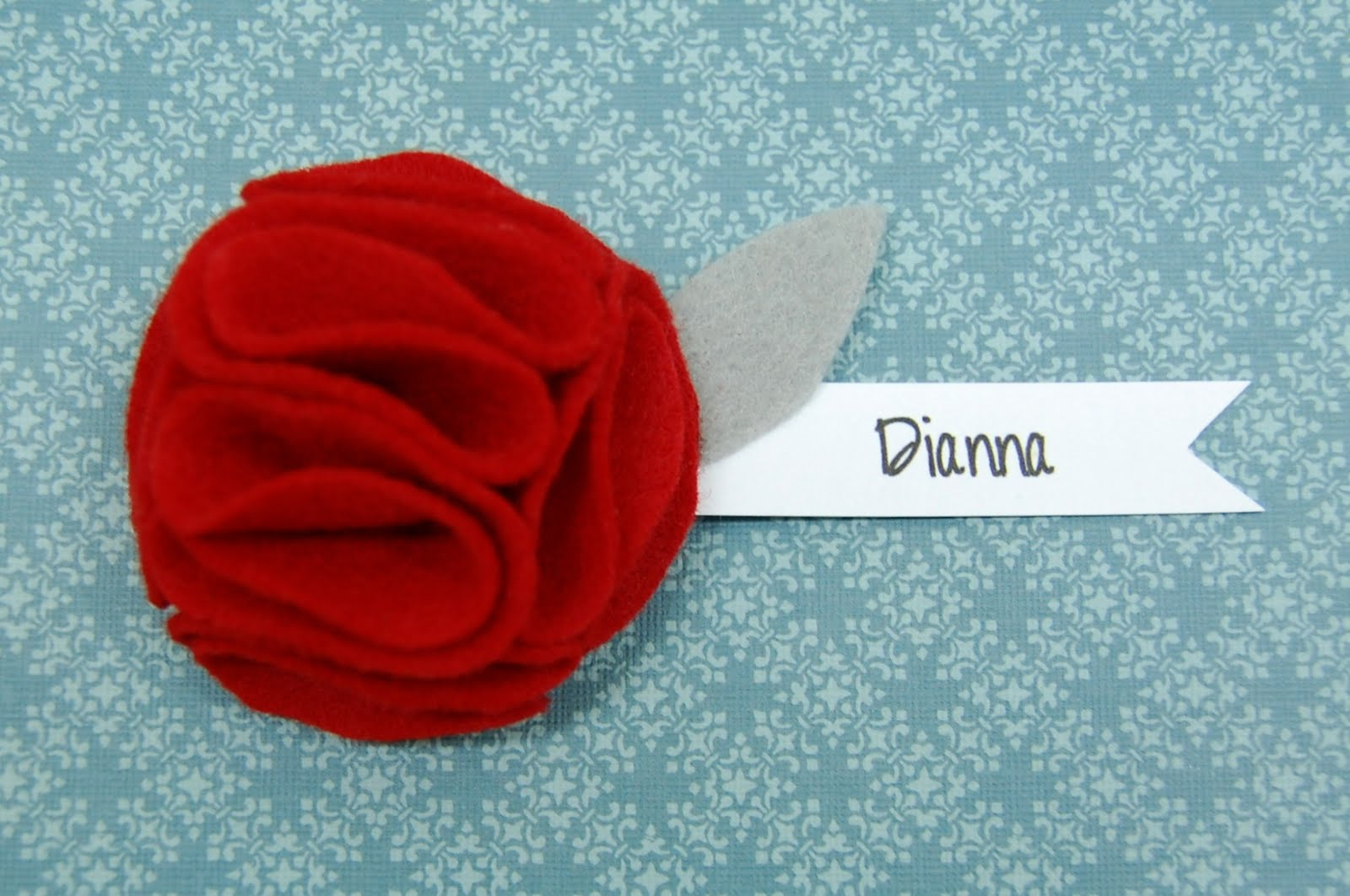 Whatever dee dee wants shes gonna get it felt flower name tag felt flower name tag tutorial baditri Gallery