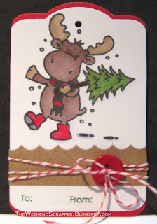 Handmade Christmas Gift Tag Tree Carrying Riley