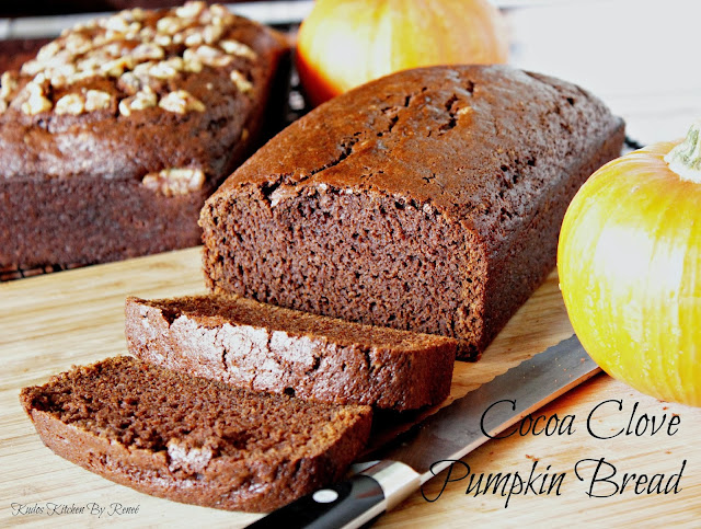 Cocoa Clove Pumpkin Bread Recipe