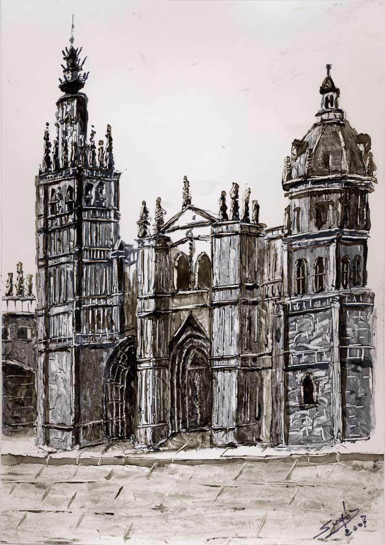 Vista de la fachada principal de la Catedral de Toledo