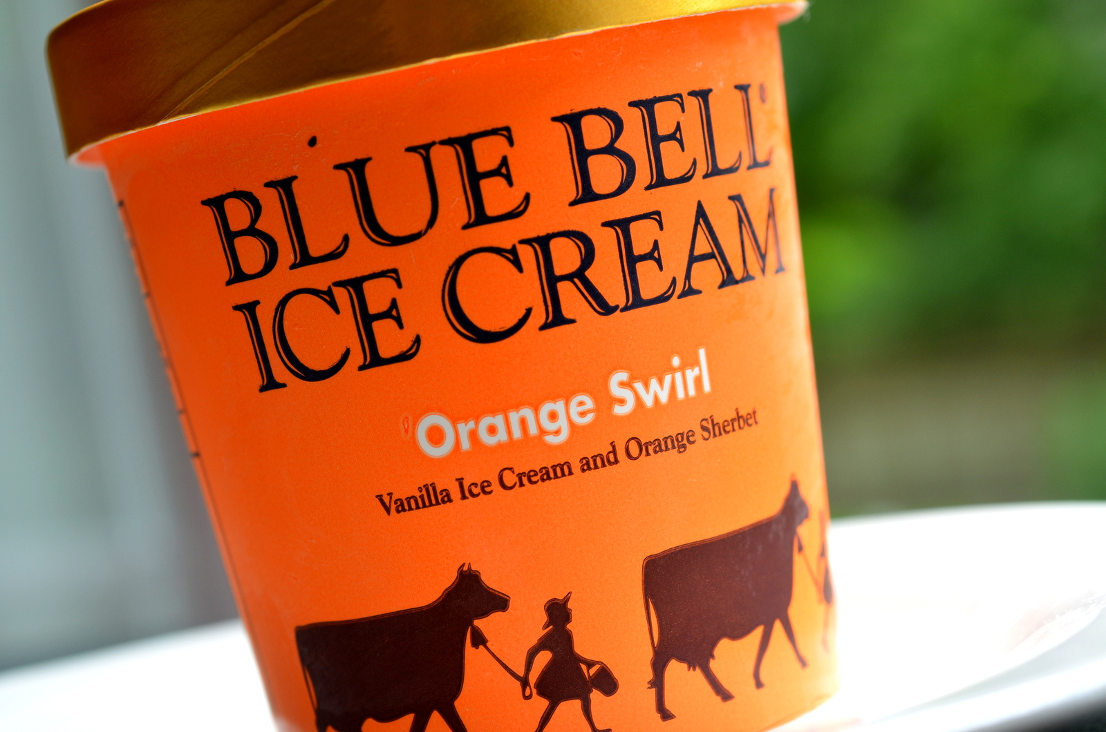 food and ice cream recipes REVIEW Blue Bell Orange Swirl