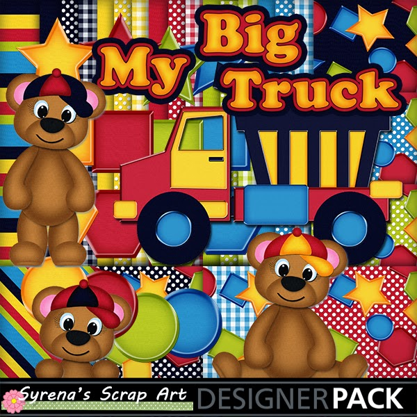 boys digital scrapbook kit