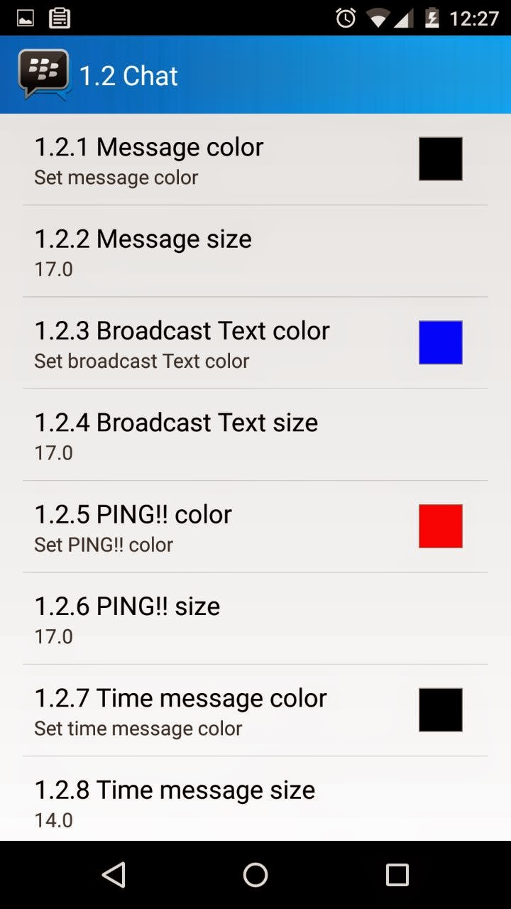 MOD BBM Terbaru Dengan Plugin GBBM Untuk Mengubah Tema dan Warna Text