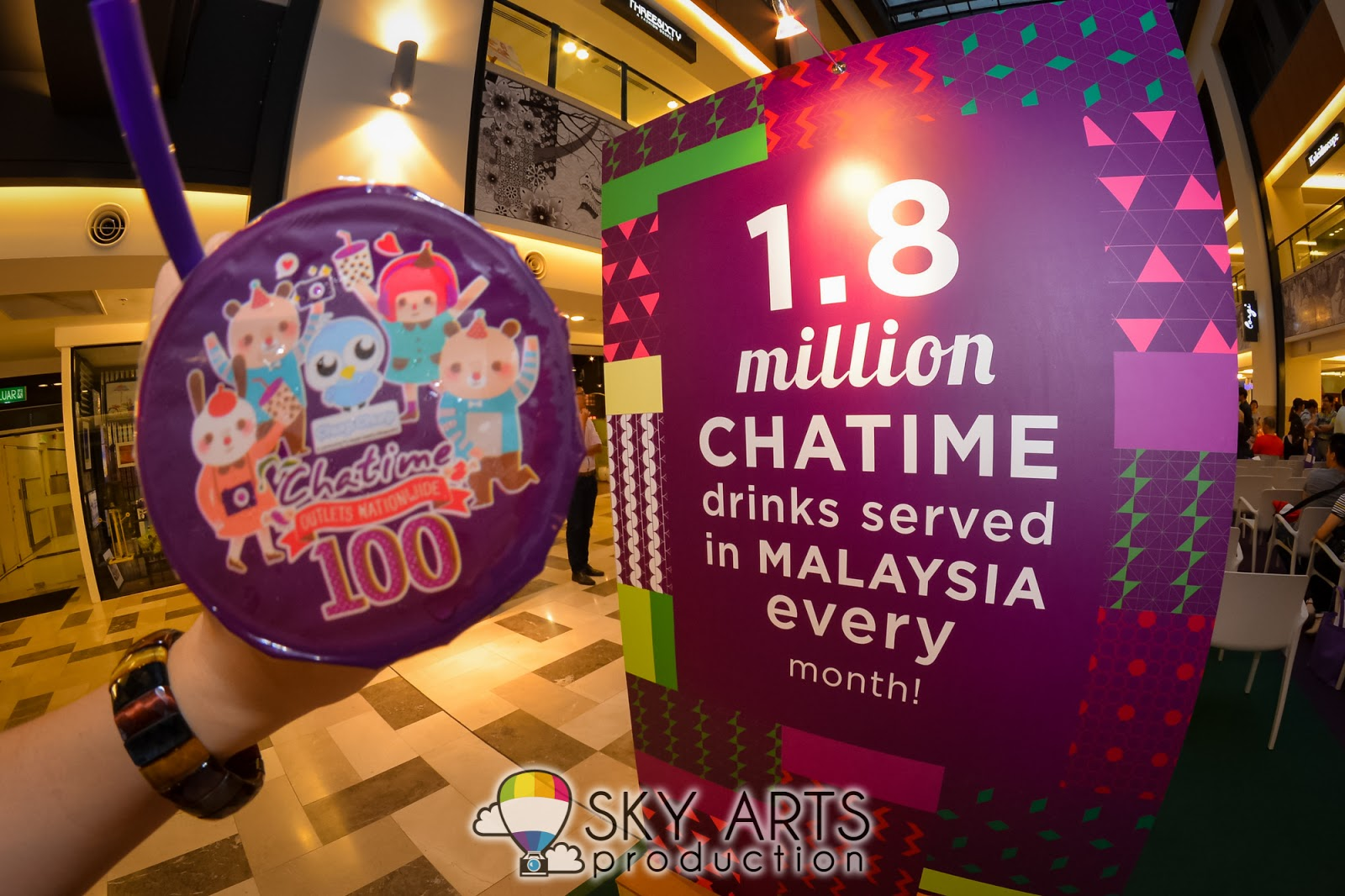 9abbcfb35eb Chatime 100 stores in Malaysia   Art Movement Collaboration with MB-BT