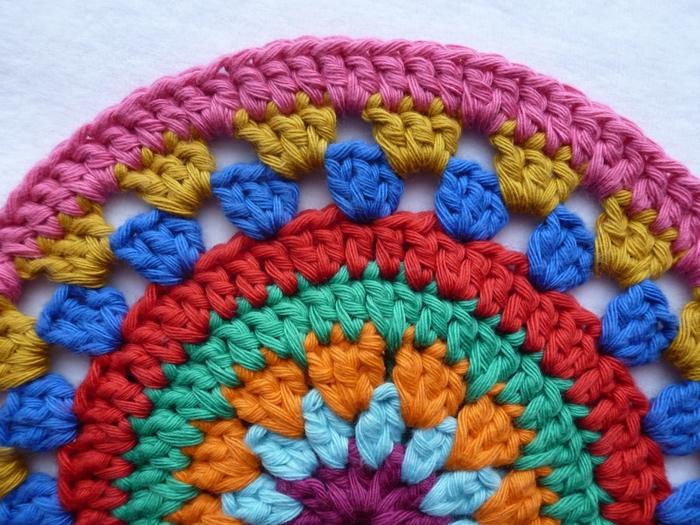 Вязание крючком для начинающих коврики на табурет