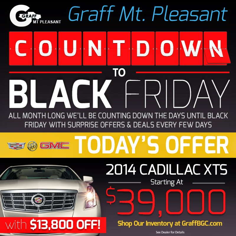 Black Friday at Graff Chevrolet, Buick, GMC, Cadillac in Mt. Pleasant
