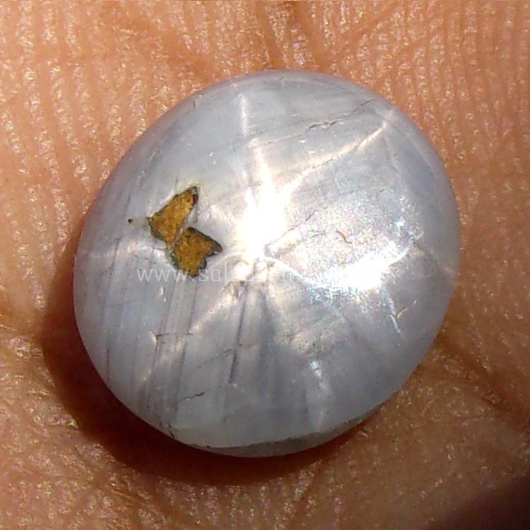 Batu Permata Bluish Grey Sapphire Star - SP890