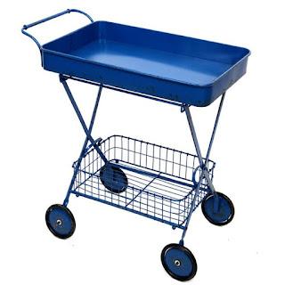 Carro de servicio metalico azul