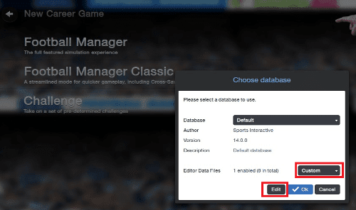 FM14 How to select custom data editor files