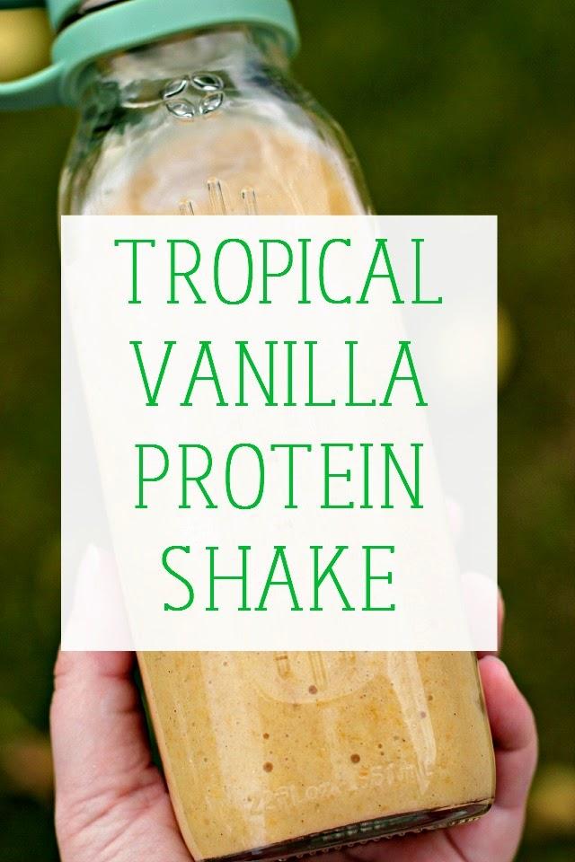 Tropical Vanilla Protein Shake (Vegan)