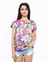 Tricou femei, multicolor, cu imprimeu trandafiri, Roh (Roh)