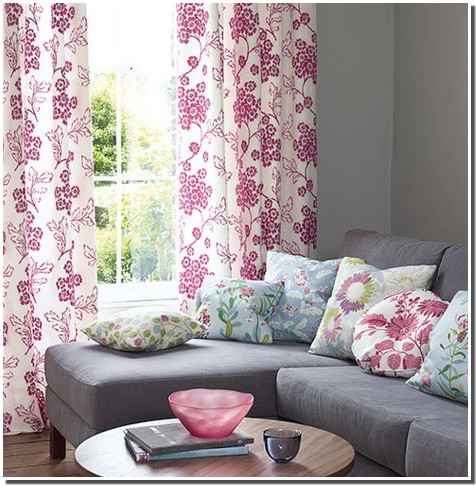 nassima home rideau fleuris roses printanier. Black Bedroom Furniture Sets. Home Design Ideas