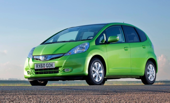 Honda Jazz Hybrid from the front