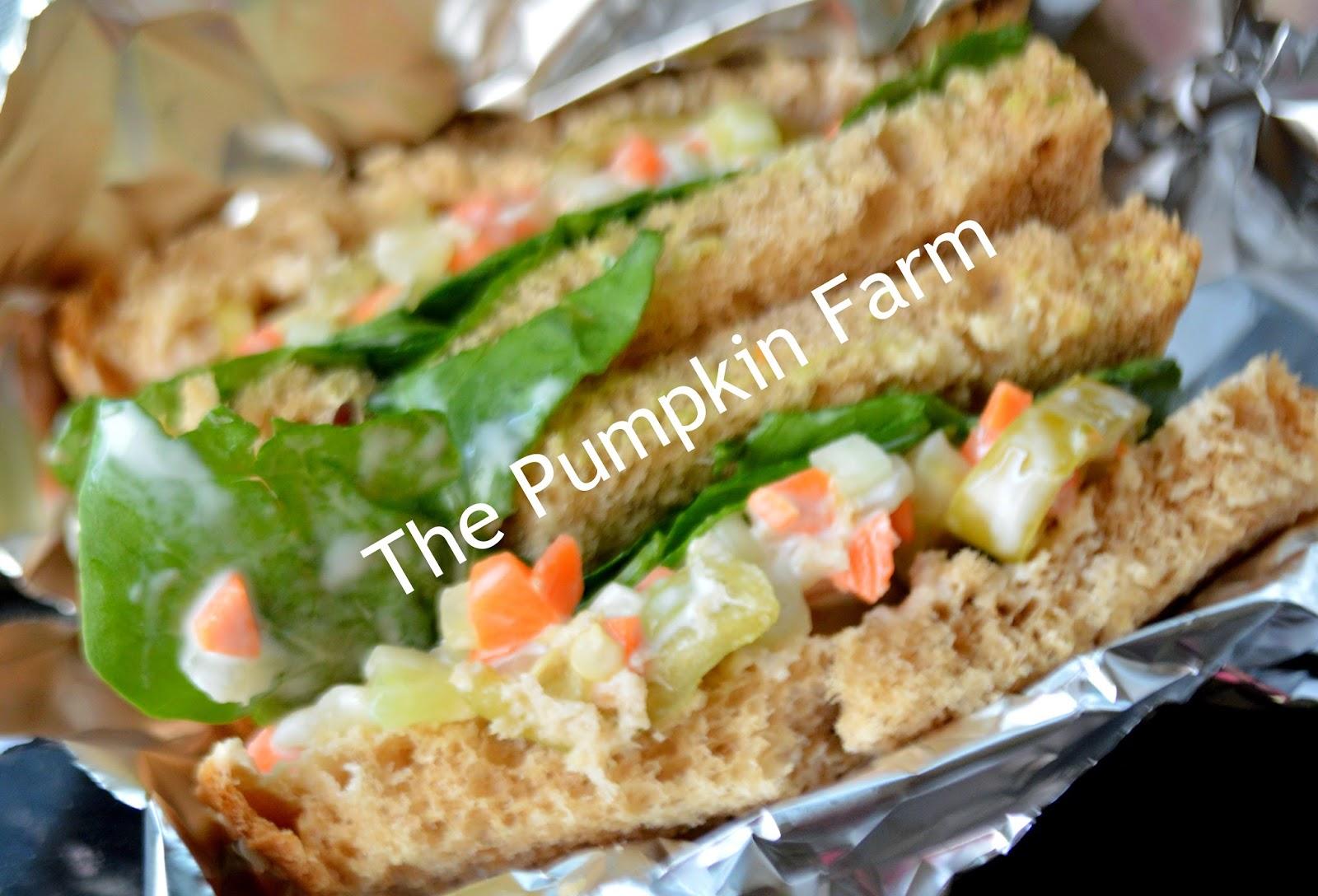 picnic sandwich/ crunchy mayo salad sandwich