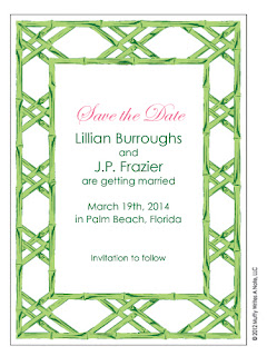 Bamboo Frame Save the Date