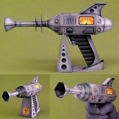 Retro Ray Gun Papercraft Tektonten Papercraft