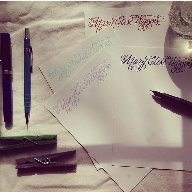 custom calligraphy personal stationary