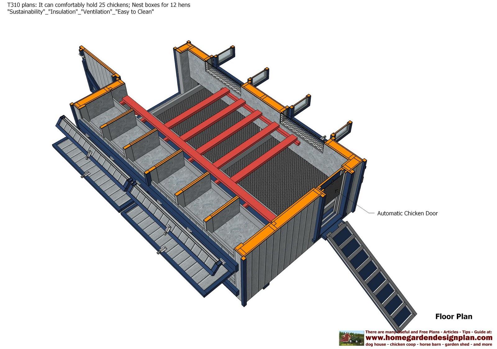 home garden plans t310 chicken trailer plans construction