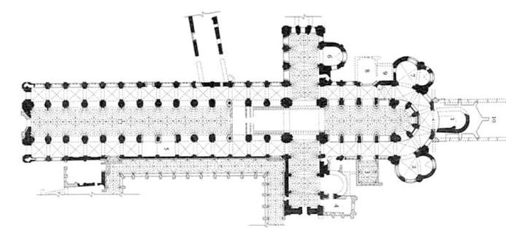 Pianta architettura romanica idea creativa della casa e for Casa di architettura gotica