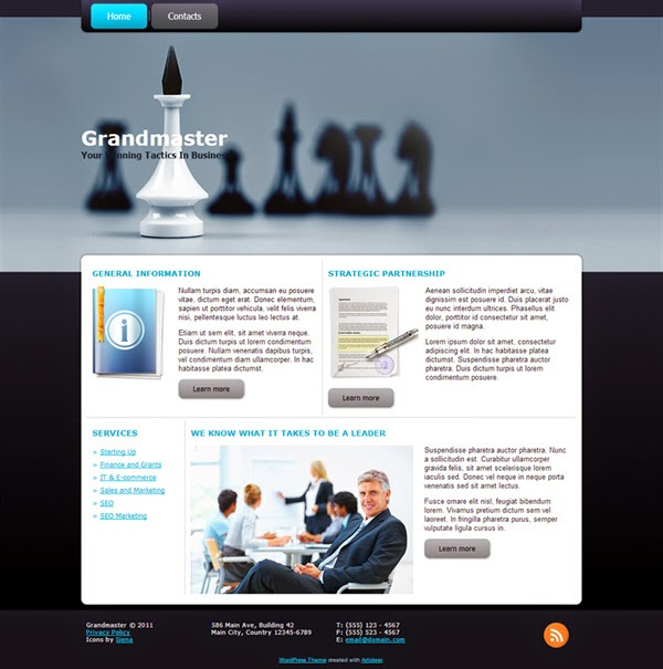 Grandmaster - Free Wordpress Theme