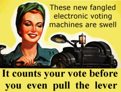 These voting machines are swell