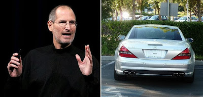 Steve Jobs drove without a license plate