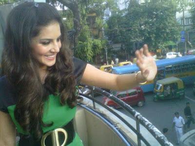 Sunny Leone in green