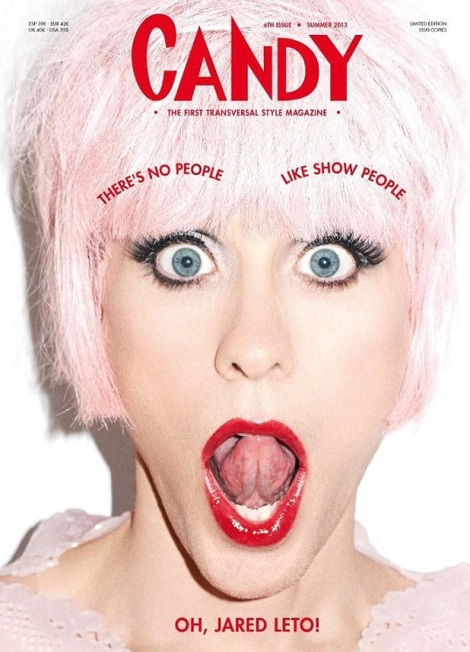 Jared Leto Candy Magazine Cover issue 6