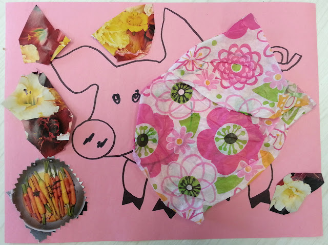 pig kids craft, my lucky day book craft