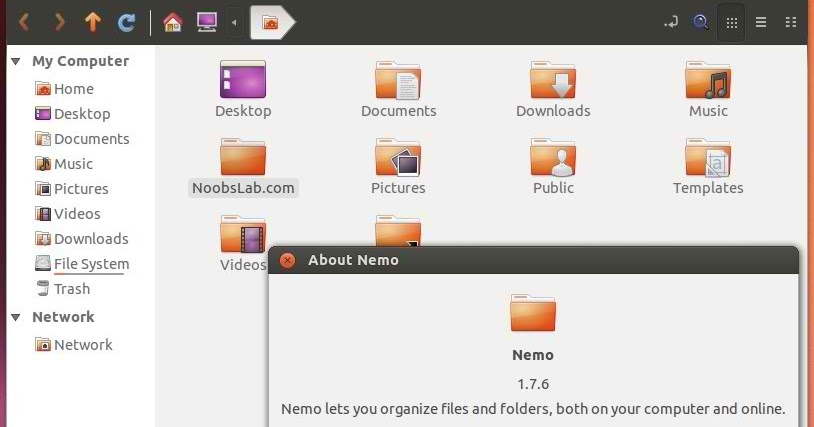 Install Nemo File Manager in Ubuntu 13.04 Raring/12.10 Quantal