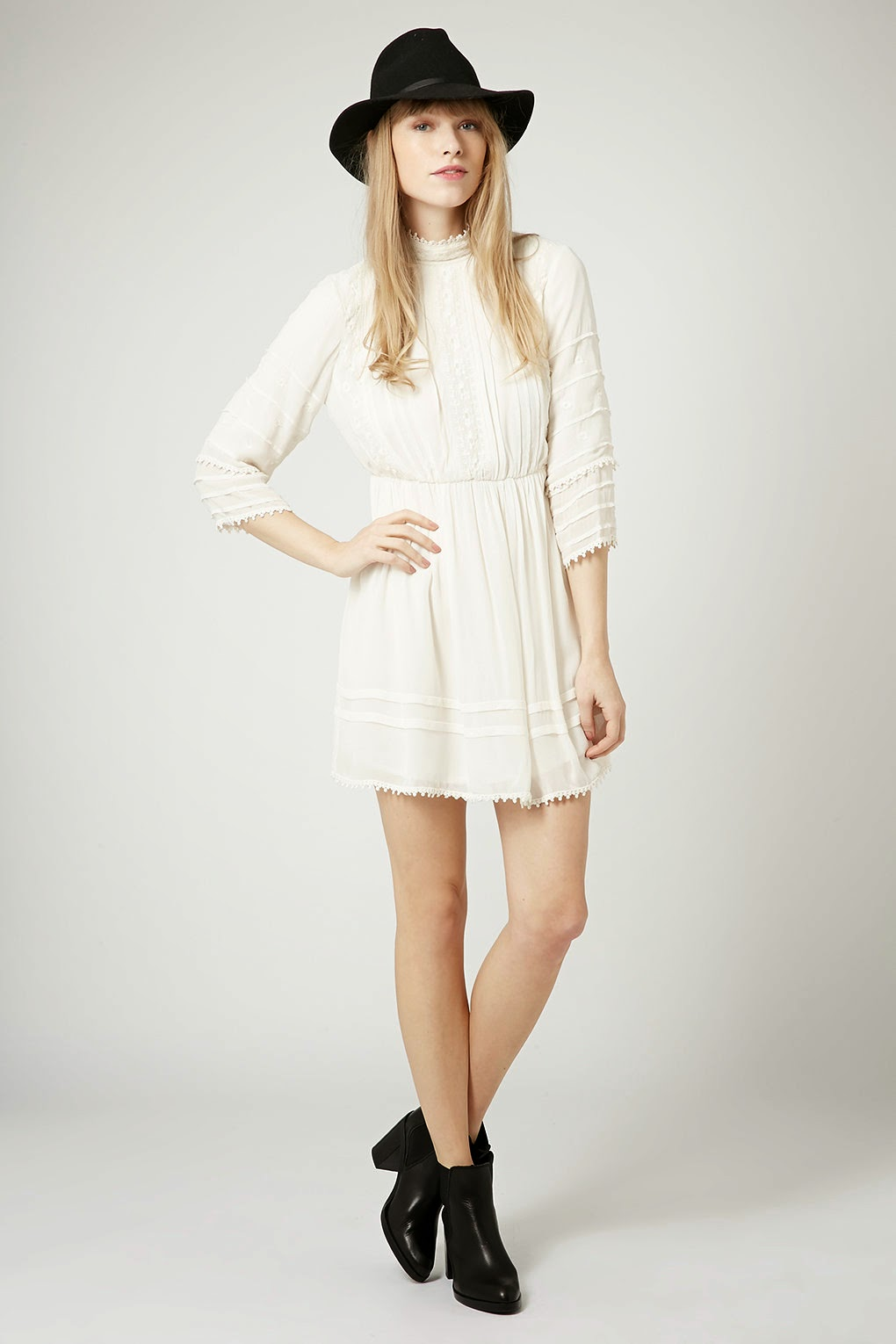 topshop victoriana dress, high neck cream dress,