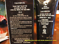 Hanskin Super Light Touch BB description