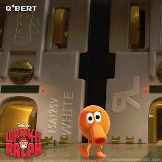 Qbert cameo Wreck It Ralph Sonic the Hedgehog Mario Bros