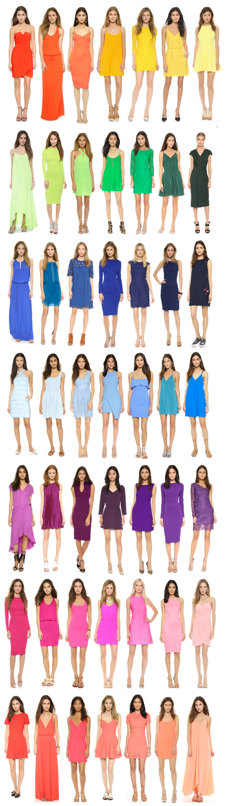 rainbow dresses-  want one of each!