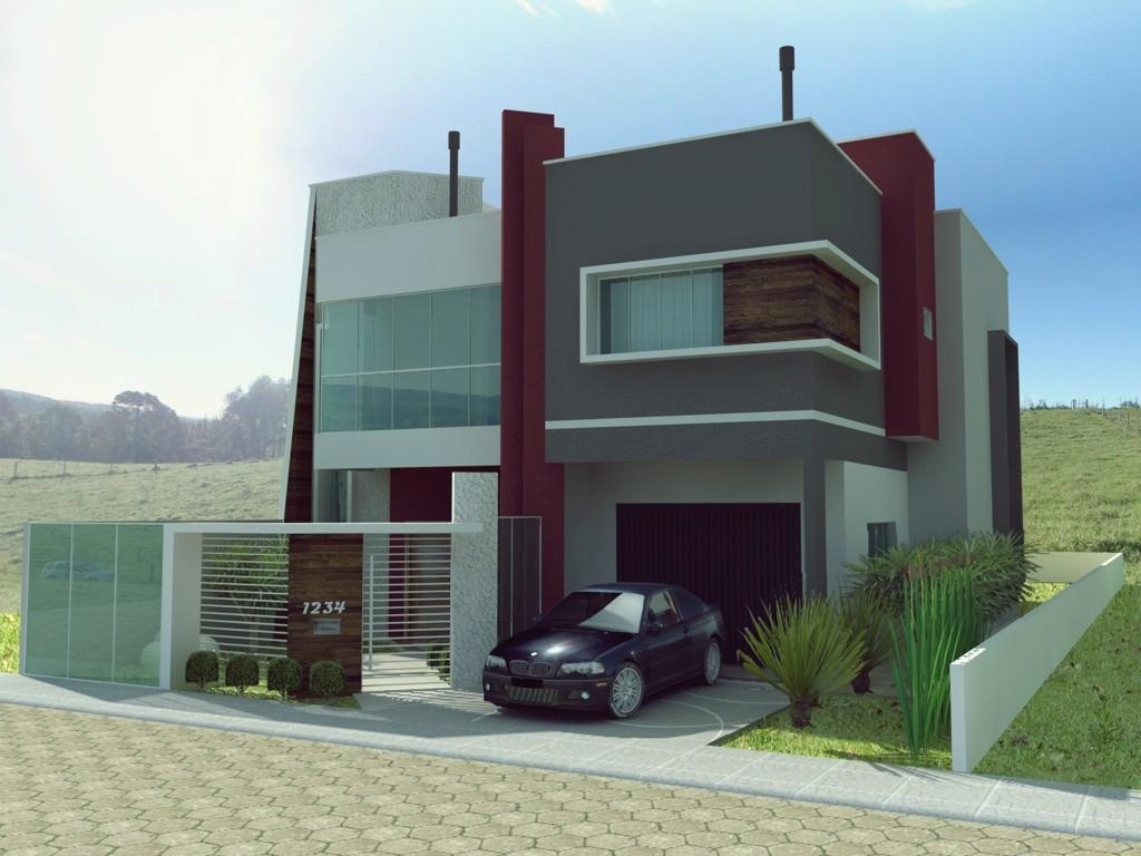 Halla arquitetura e urbanismo casa moderna 2 for Fachadas de viviendas