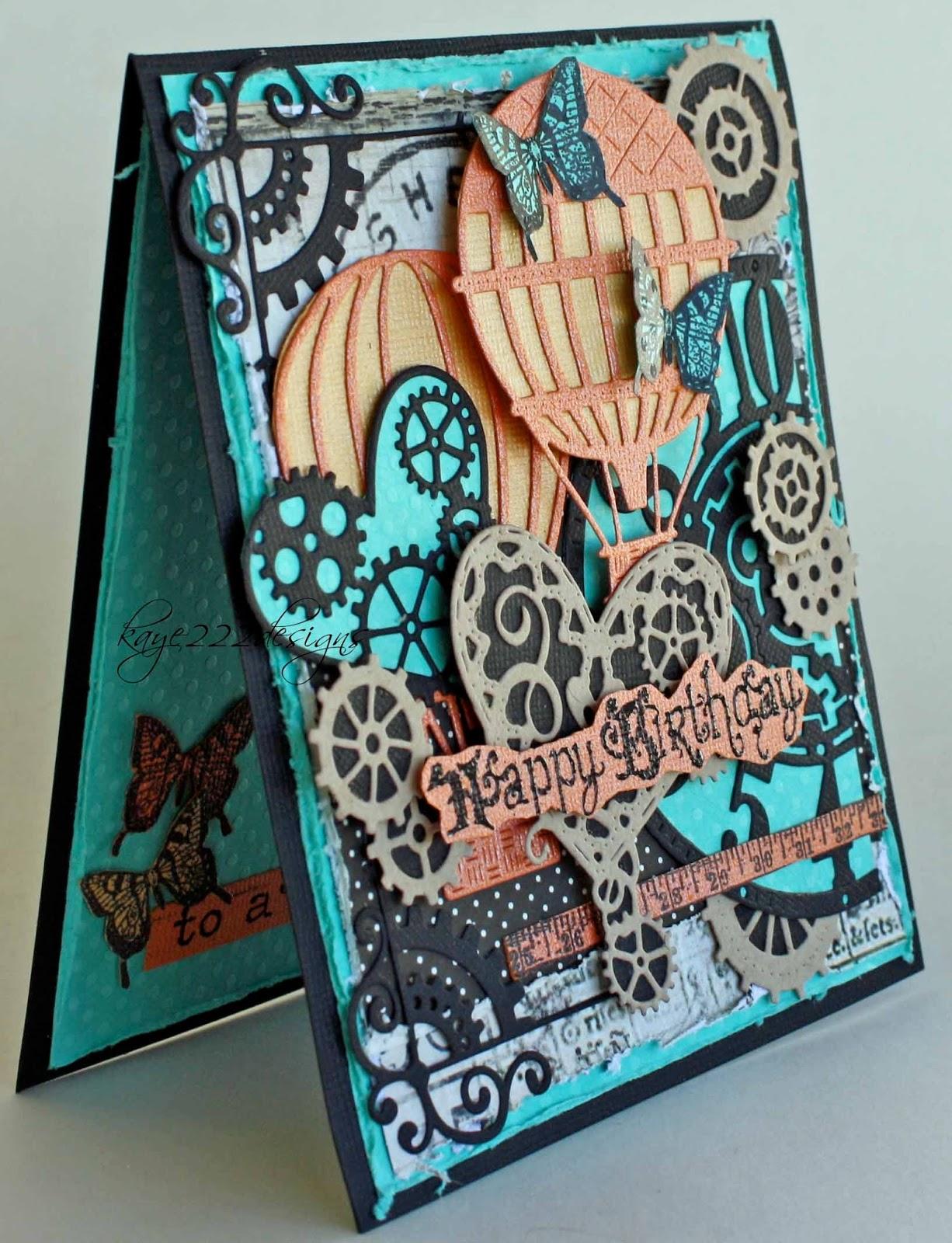 Beyond Beauty Steampunk Birthday With Cheery Lynn Designs – Steampunk Birthday Card