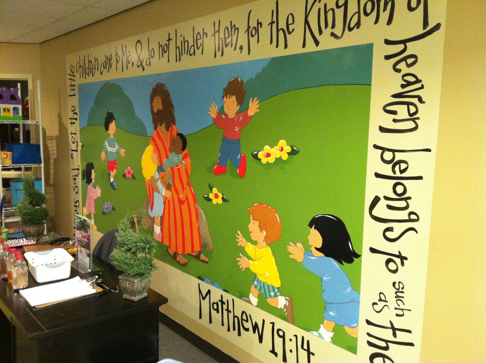 Church nursery decorating ideas dream house experience for Church nursery mural