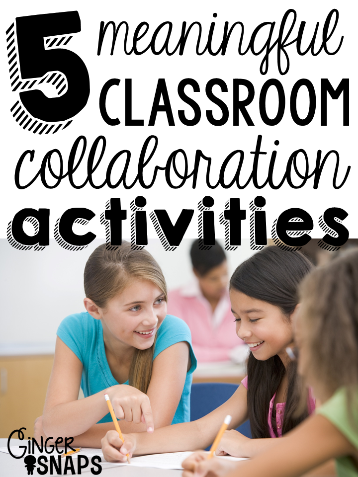 Classroom Collaboration Ideas ~ Collaboration ideas for the classroom ginger snaps