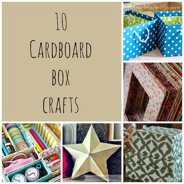 Home made modern 10 things to make with a cardboard box for Modern things for home