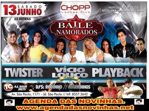 CHOPP LOUNGE CLUB - BAILE DOS  NAMORADOS