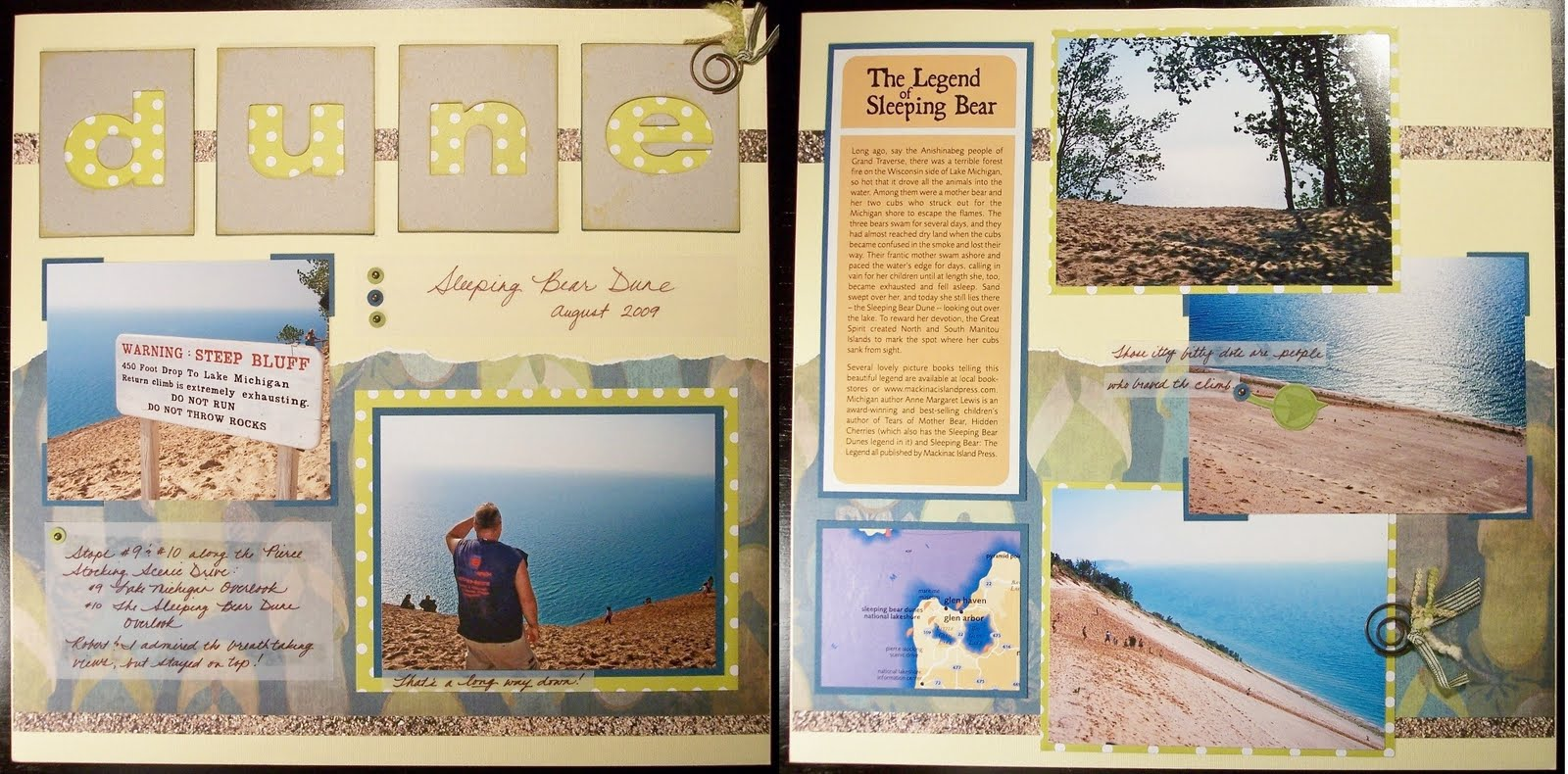 Paper Squirrel Summer Vacation Scrapbook Pages Day 2