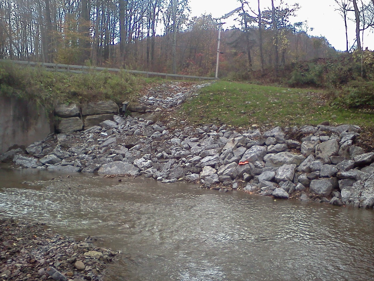 Completed Bank Protection Project - Gooseneck Creek, Ashford