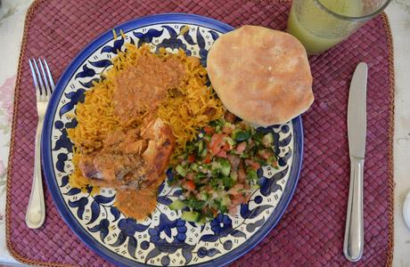 Clase de cocina en Beit Sitti.