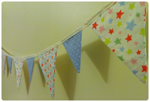 craftypainter: Bunting in Cath Kidston prints