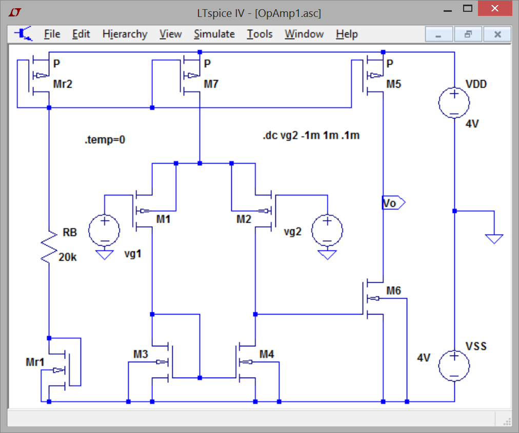 Basic Mosfet Op Amp Pt Temperature Dependence Evaluation With Diagram Labview And Ltspice