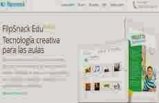 FlipSnack: permite convertir online archivos pdf, jpg ó jpeg a libros, revistas, y catálogos interactivos en flash